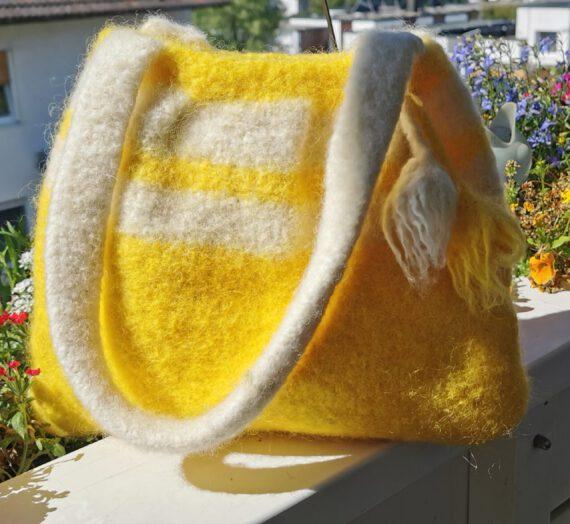 Gelb-Weiße Tasche