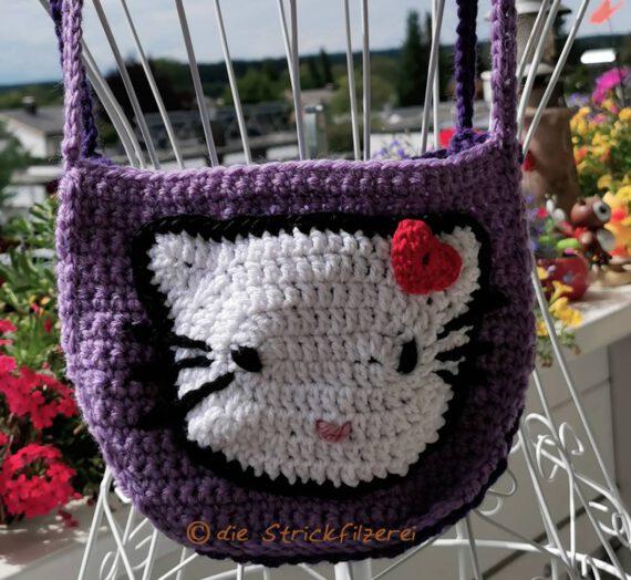 Kitty-Tasche lila, reflektierend